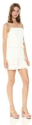 Parker Women's Kristie Spaghetti Strap Ruffle Short Dress