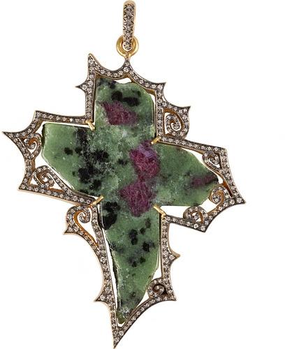 Waterman Cathy Blackened Diamond Cross Necklace