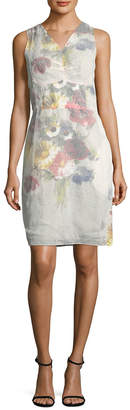 Celine Faded Floral Sheath Dress