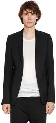 Rick Owens Soft Stretch Virgin Wool Canvas Jacket