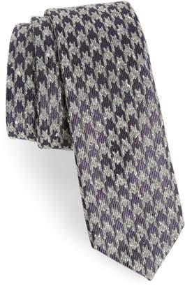 The Tie Bar Houndstooth Thrill Silk Tie