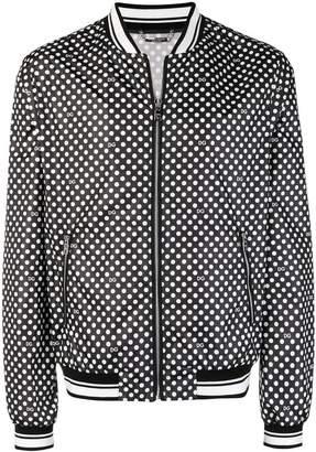 Dolce & Gabbana polka-dot bomber jacket