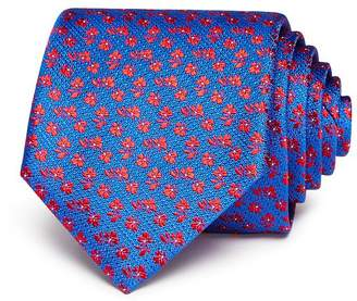 Canali Tossed-Floral Silk Classic Tie
