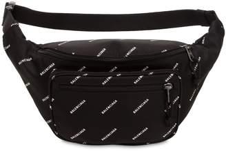Balenciaga Logo Printed Nylon Belt Pack
