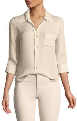 L'Agence Ryan 3/4-Sleeve Silk Blouse