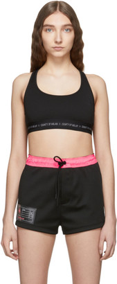 Marcelo Burlon County of Milan Black Logo Sports Bra