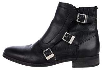 Calvin Klein Leather Ankle Boots