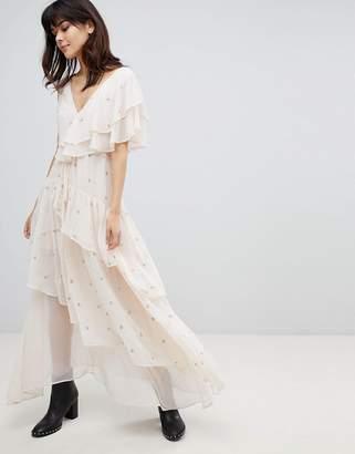 Religion Layered Dress With Embellishment