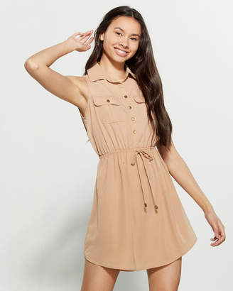 BeBop Sleeveless Utility Shirtdress