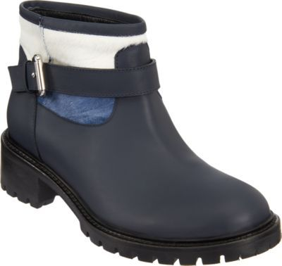 Fendi Pony-Hair-Cuff Ankle Boot
