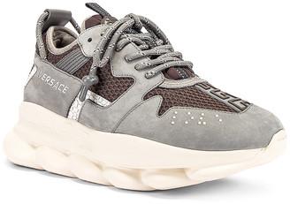 Versace Chain Reaction Sneaker in Grey in Mushroom | FWRD