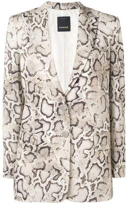 Pinko snakeskin print blazer