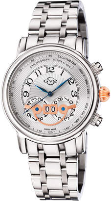 Gv2 44mm Montreux Men's Stainless Steel Chronograph Watch