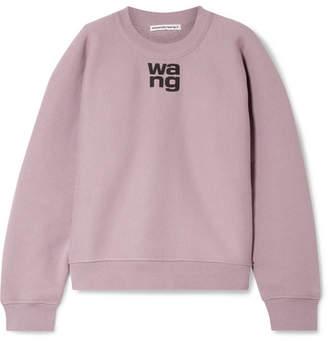 Alexander Wang Oversized Printed Cotton-blend Fleece Sweatshirt - Lilac