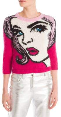 Moschino Face Print Knit Sweater