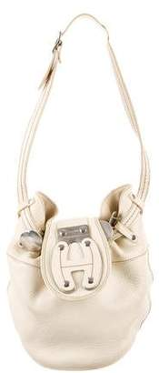 Hogan Pebbled Leather Shoulder Bag