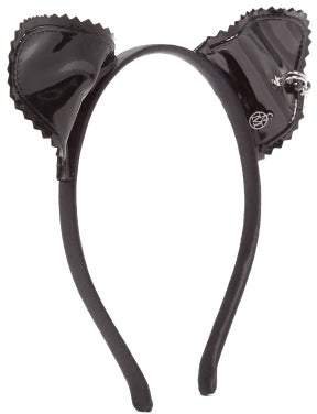 Maison Michel Heidi Pierced Cat Ear Vinyl Hedband - Womens - Black