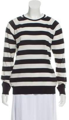 John Smedley Striped Wool Sweater Black Striped Wool Sweater