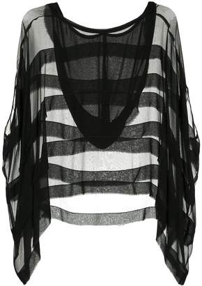 Taylor sheer hood blouse