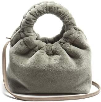 The Row Circle-handle mink bag