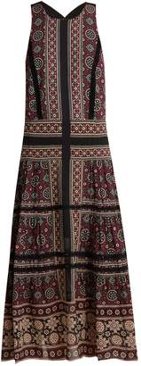 Sea Ezri crochet-trimmed printed georgette dress