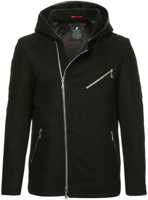 Loveless asymmetric hooded jacket