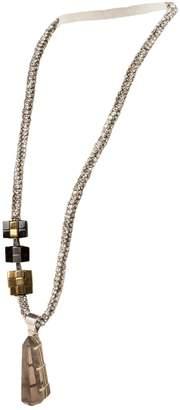 Dries Van Noten Silver Metal Long Necklace