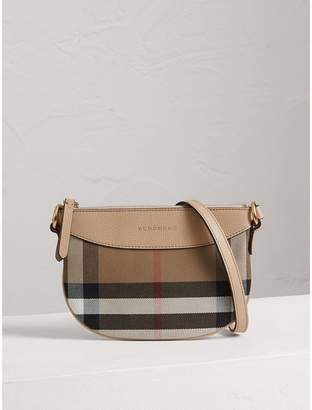 Burberry House Check and Leather Crossbody Bag
