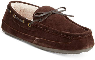 Rockport Men's Suede Moccasin Slippers $75 thestylecure.com