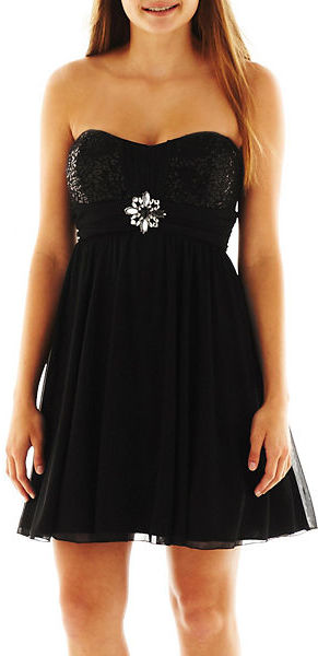 JCPenney BY AND BY by & by Sequin-Bodice Dress