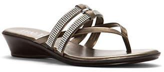 Italian Shoemakers Jewel Thong Slide Sandals