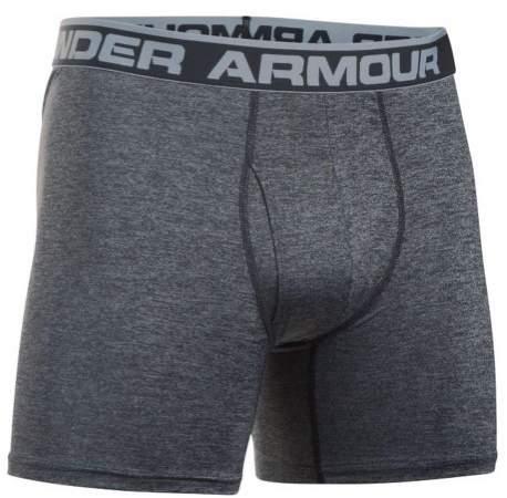 Under Armour Men's Twist BoxerJock Boxer Brief Underwear UA 6 Inch (Steel, M)
