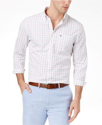 Tommy Hilfiger Men's Checked Classic Fit Shirt, Created for Macy's