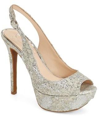 Women's Jessica Simpson Platform Slingback Peep Toe Pump $88.95 thestylecure.com