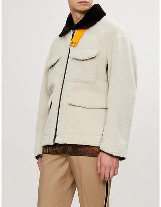 Oamc Buckle-trimmed shearling jacket