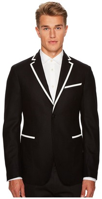 Versace Collection - Woven Sport Jacket with Piping Men's Coat $975 thestylecure.com