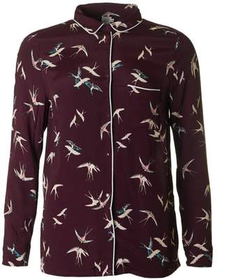 Saint Tropez Bird Print Long Sleeved Shirt