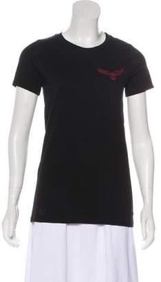 Chrome Hearts Scoop Neck Graphic Print T-Shirt