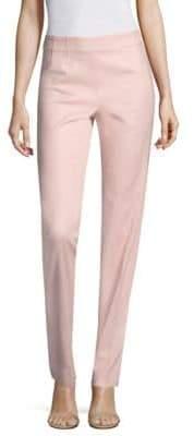 Piazza Sempione Cotton Sateen Side-Zip Pants