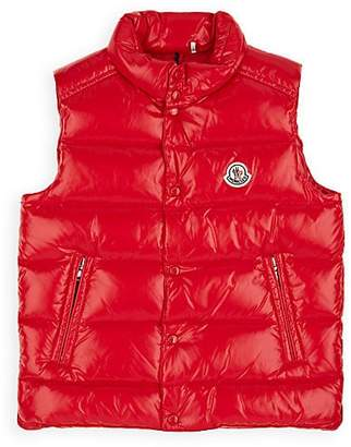 Moncler Kids' Tib Down-Quilted Vest - Red
