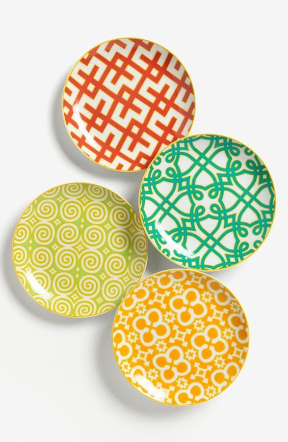 Rosanna Round Porcelain Appetizer Plates (Set of 4)