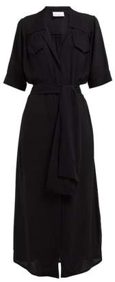 Raey Crepe Shirtdress - Womens - Black