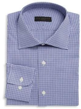 Ike Behar Regular-Fit Houndstooth Dress Shirt