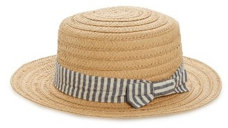 Women's Bp. Stripe Band Straw Boater Hat - Beige $22 thestylecure.com
