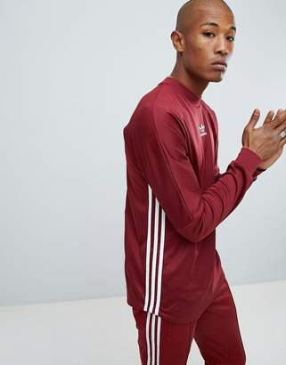 adidas Authentic Long Sleeve Top In Red DJ2868