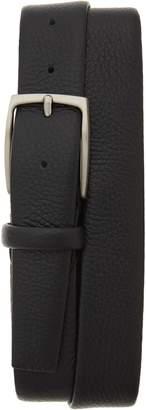 Canali Tubular Tumbled Leather Belt