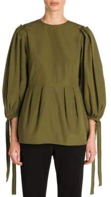 Marni Poplin Balloon-Sleeve Top