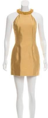 Michael Kors Embellished Silk Dress