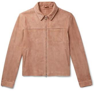 Mr P. Slim-Fit Suede Blouson Jacket