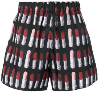 Prada lipstick print shorts